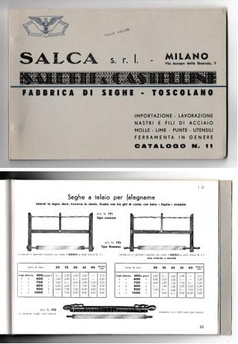 SALCA FABBRICA DI SEGHE - CATALOGO N.11